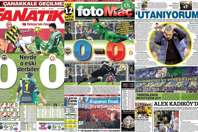 Sarı - lacivert manşetler!